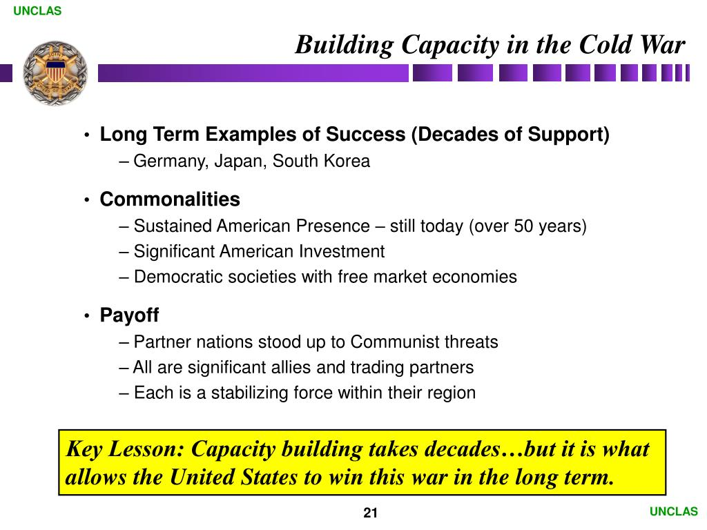 Building Capacity in the Cold War