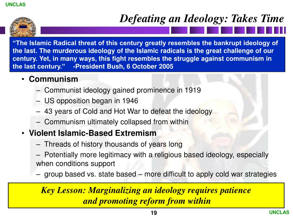 Defeating an Ideology: Takes Time