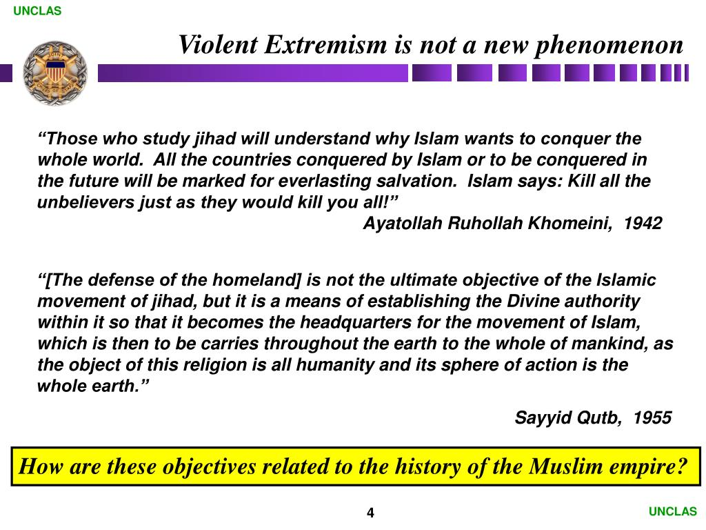 Violent Extremism is not a new phenomenon