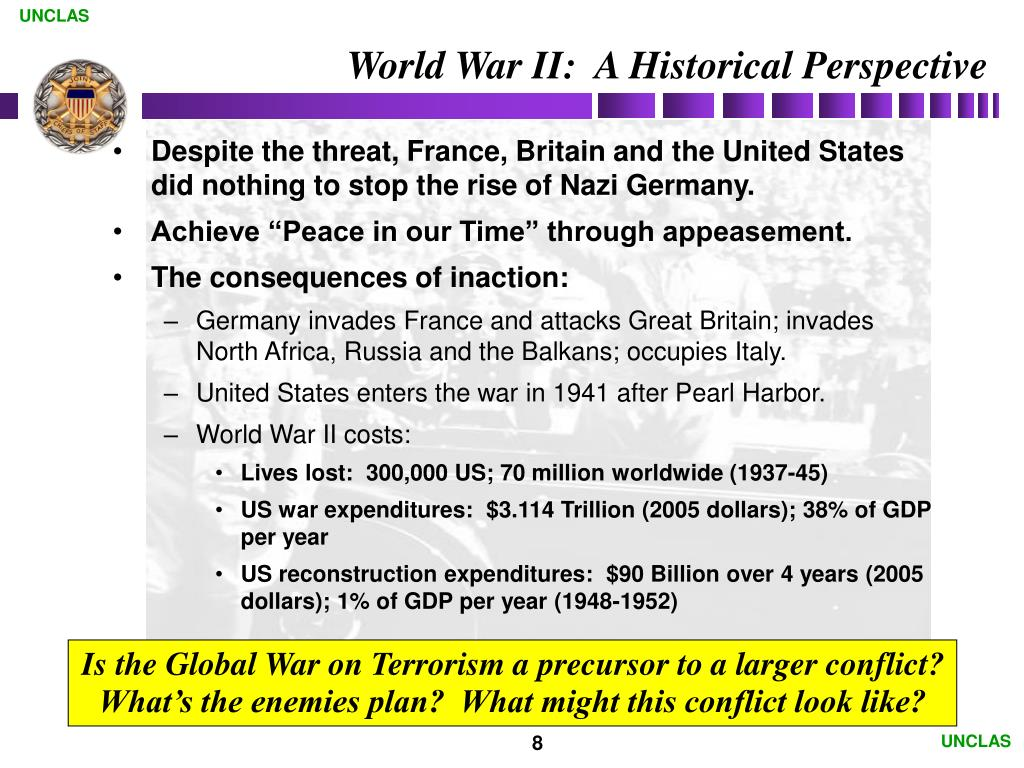 World War II:  A Historical Perspective