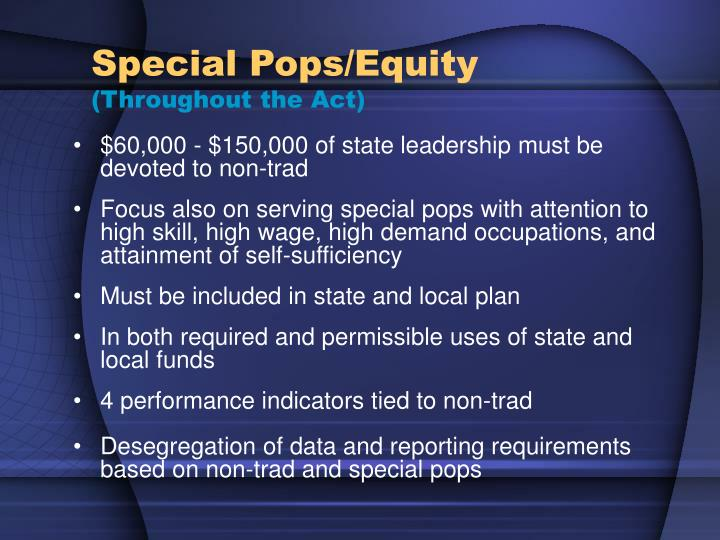 Special Pops/Equity