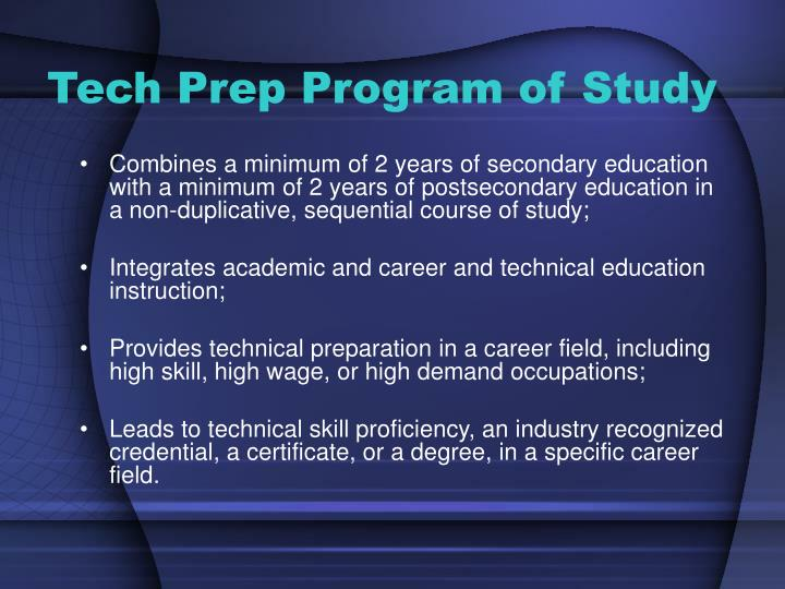 Tech Prep Program of Study