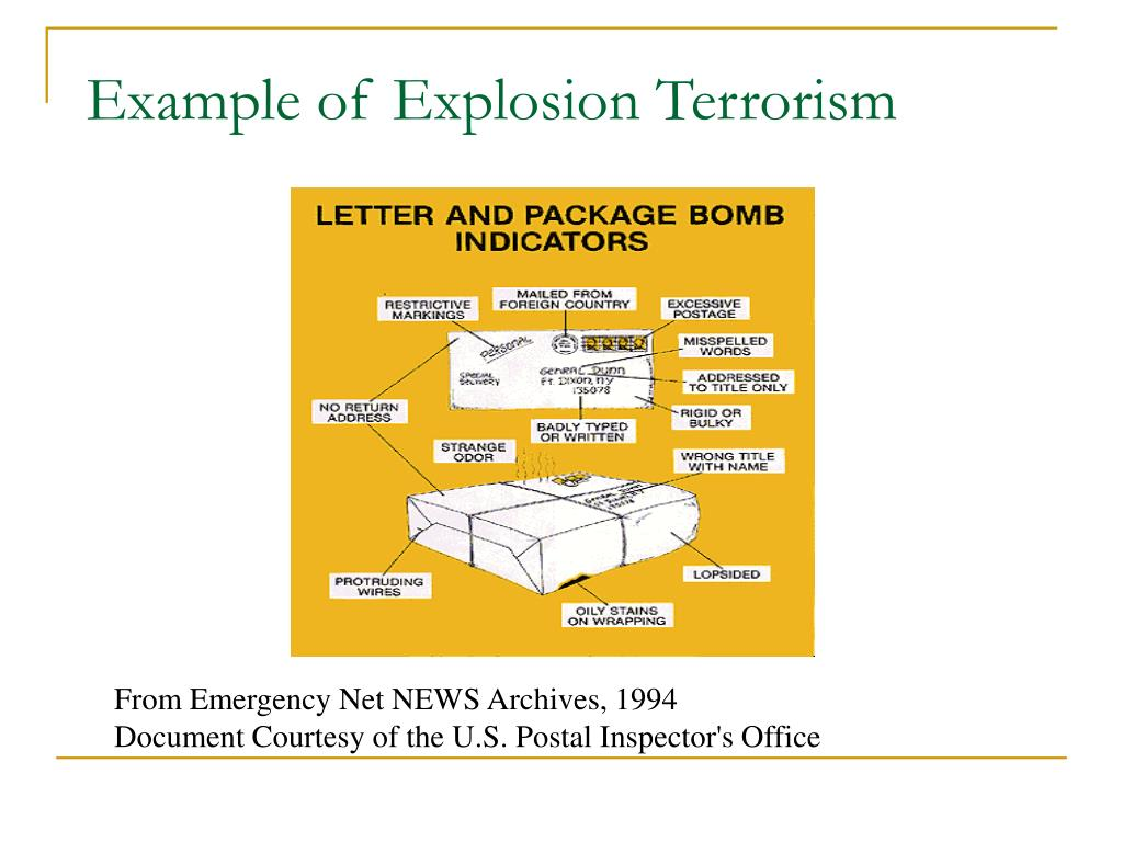 Example of Explosion Terrorism