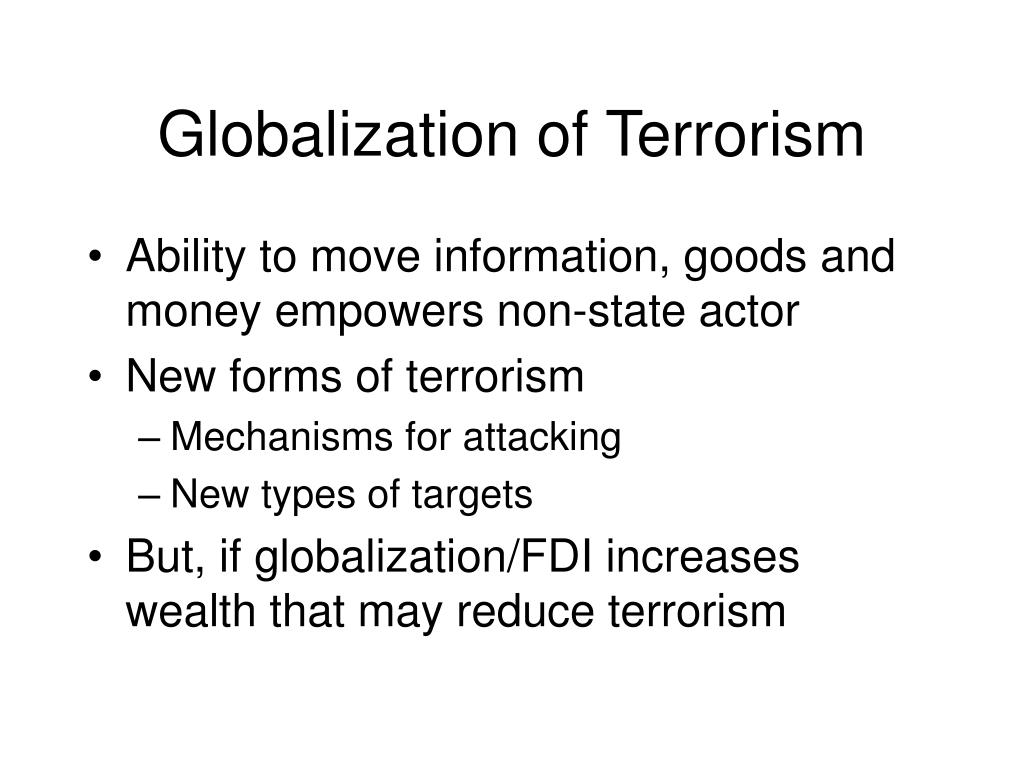 Globalization of Terrorism