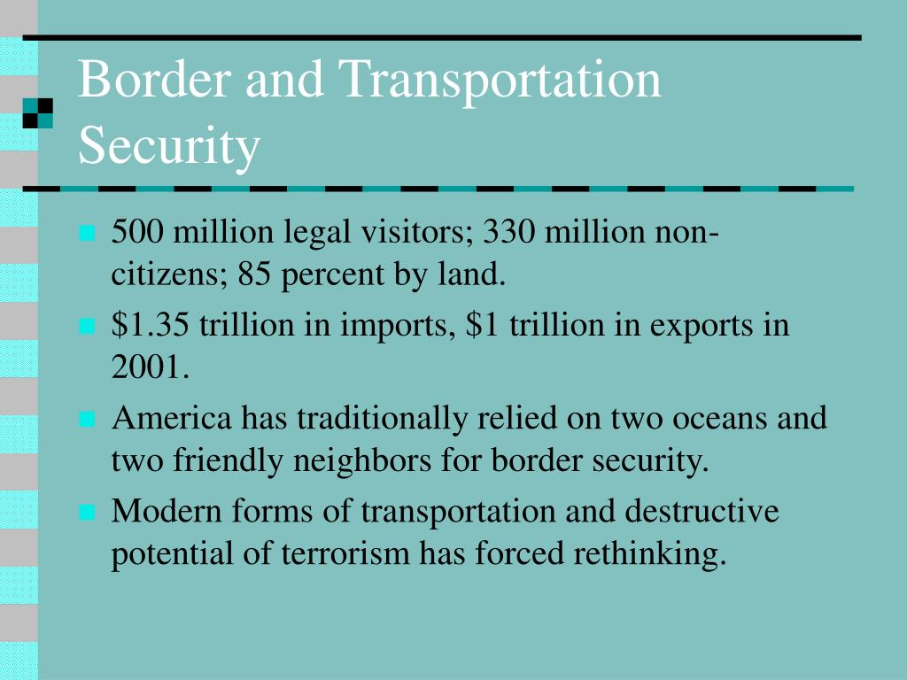 Border and Transportation Security
