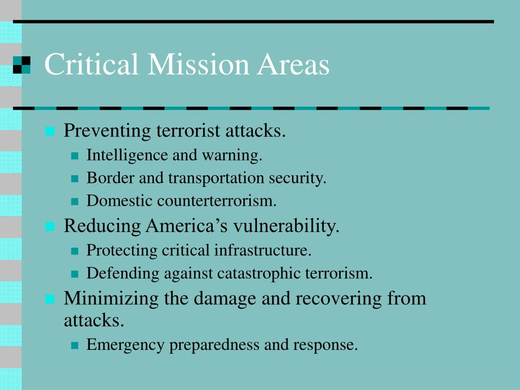 Critical Mission Areas