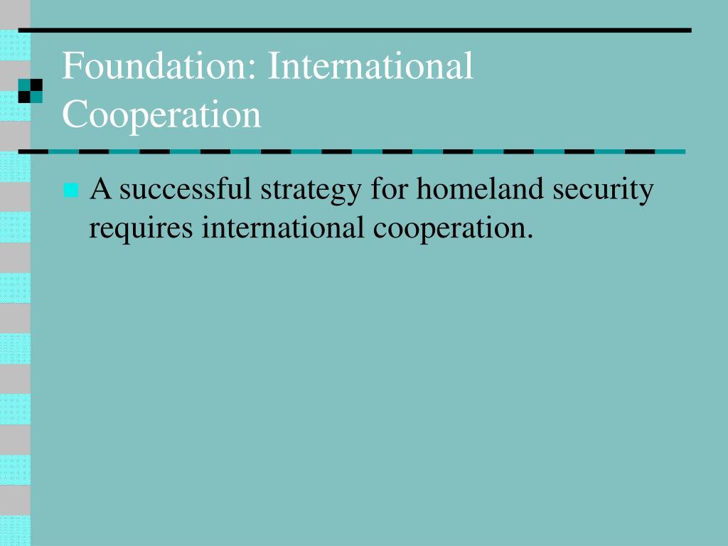 Foundation: International Cooperation