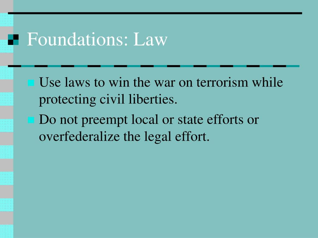 Foundations: Law