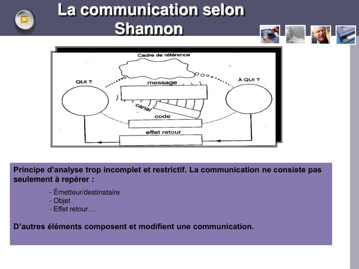 La communication selon Shannon