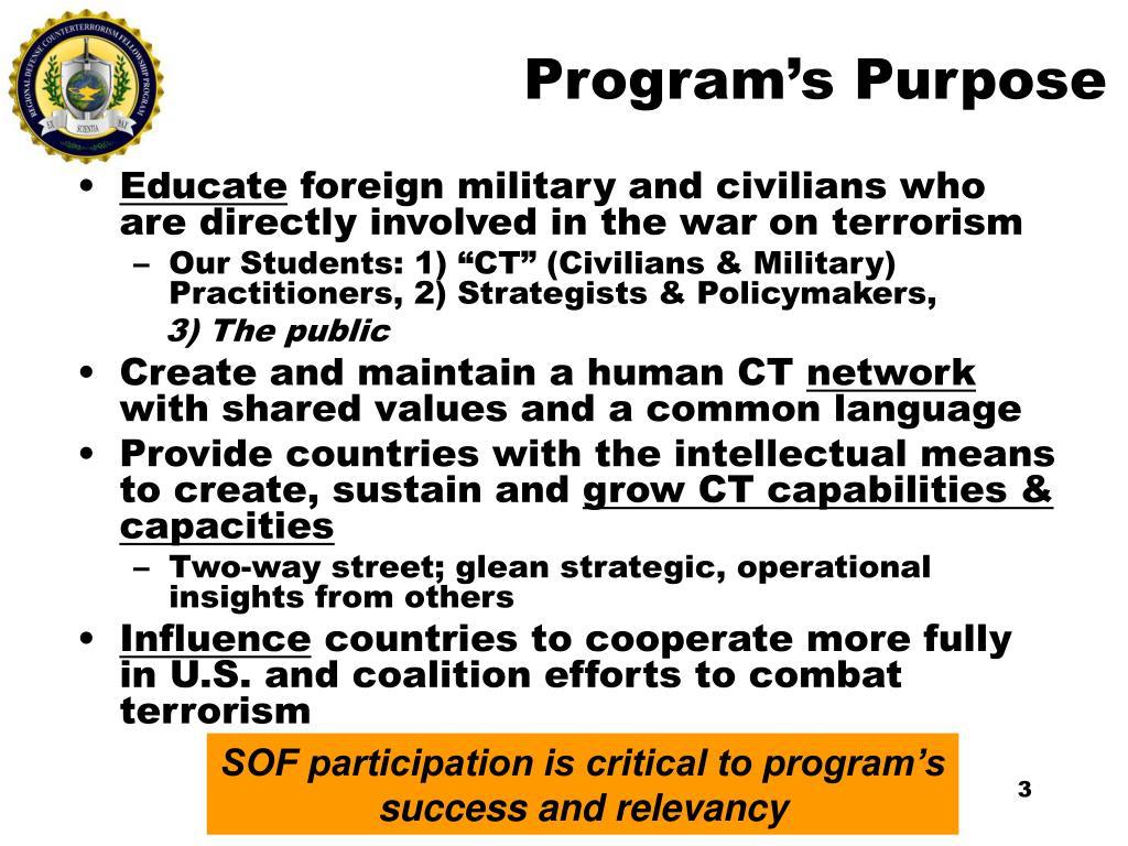 Program's Purpose