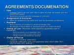 agreements documenation