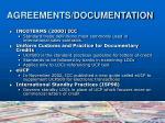 agreements documentation