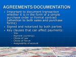 agreements documentation1