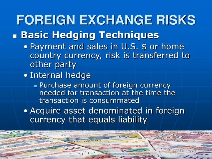 FOREIGN EXCHANGE RISKS