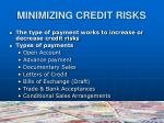 minimizing credit risks1