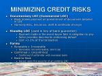 minimizing credit risks10