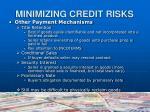 minimizing credit risks12