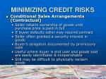 minimizing credit risks14