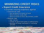 minimizing credit risks15