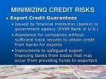 minimizing credit risks16