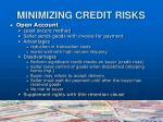 minimizing credit risks2