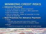minimizing credit risks4