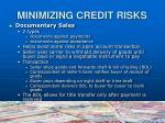 minimizing credit risks5