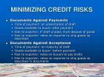 minimizing credit risks6