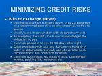 minimizing credit risks7