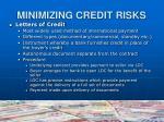 minimizing credit risks9