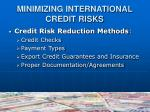 minimizing international credit risks1