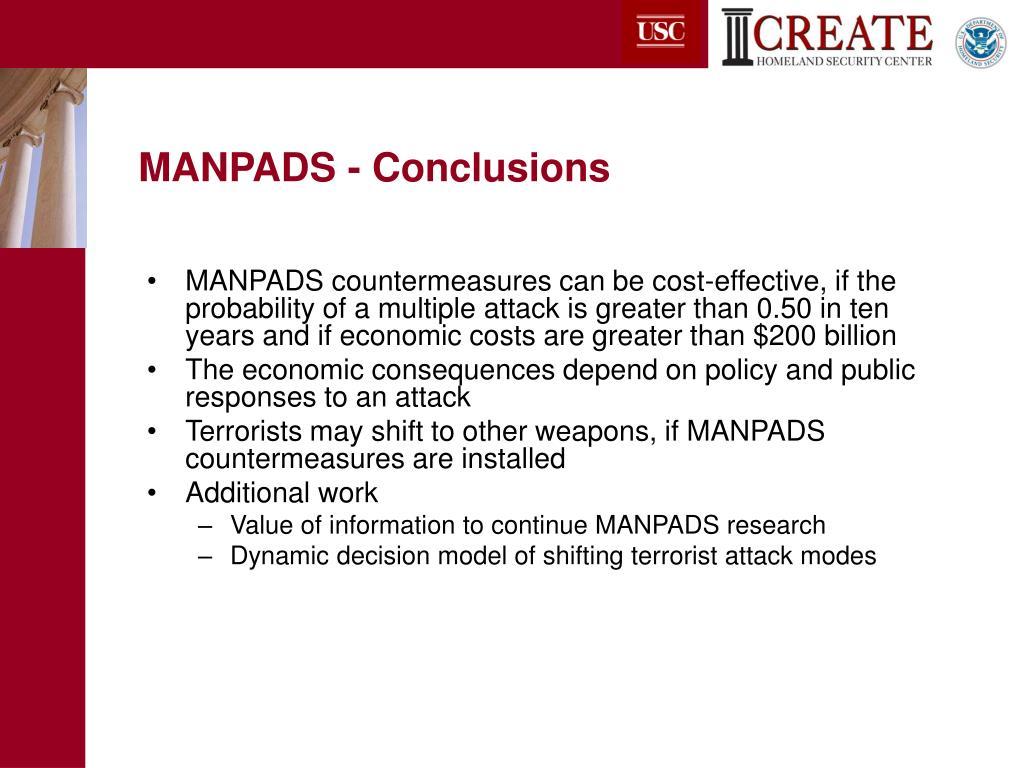 MANPADS - Conclusions