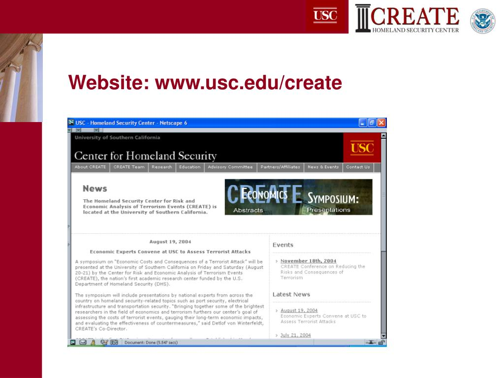Website: www.usc.edu/create