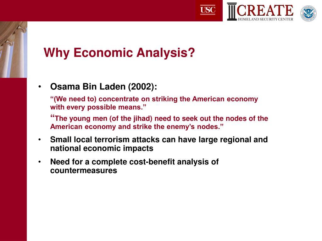 Why Economic Analysis?