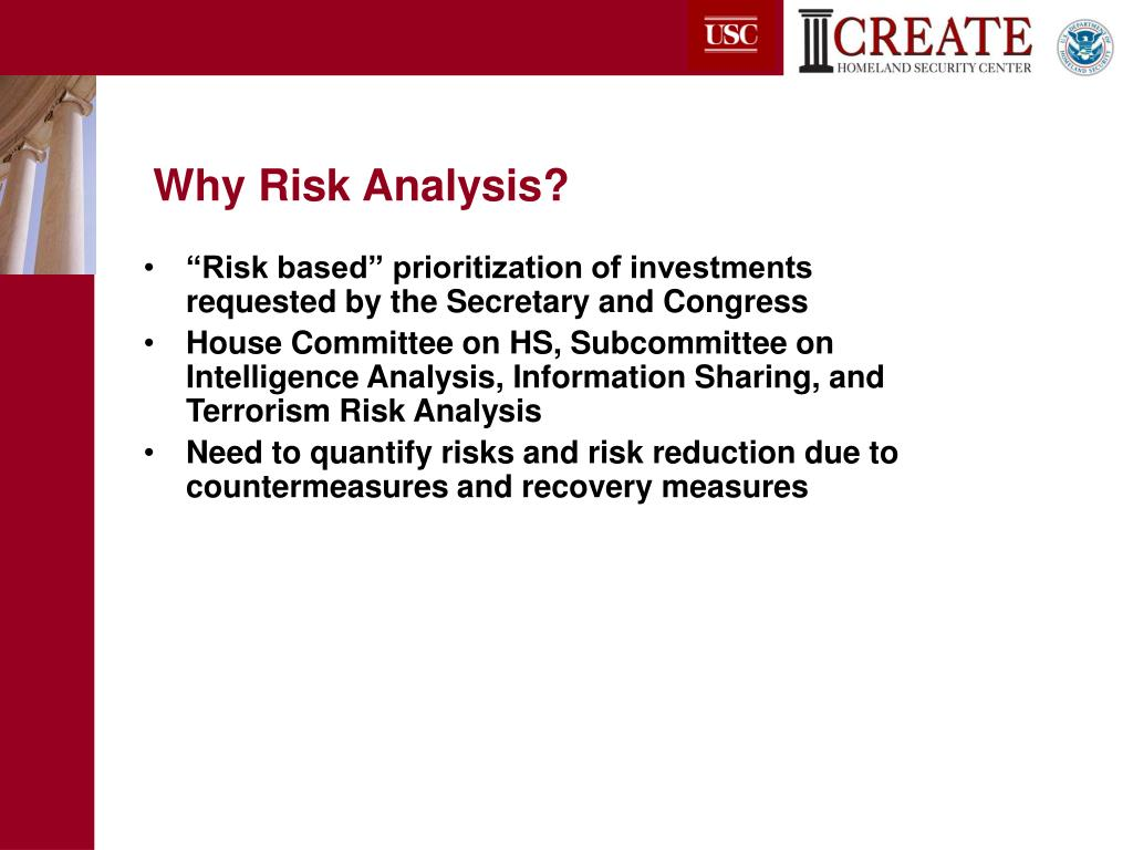 Why Risk Analysis?