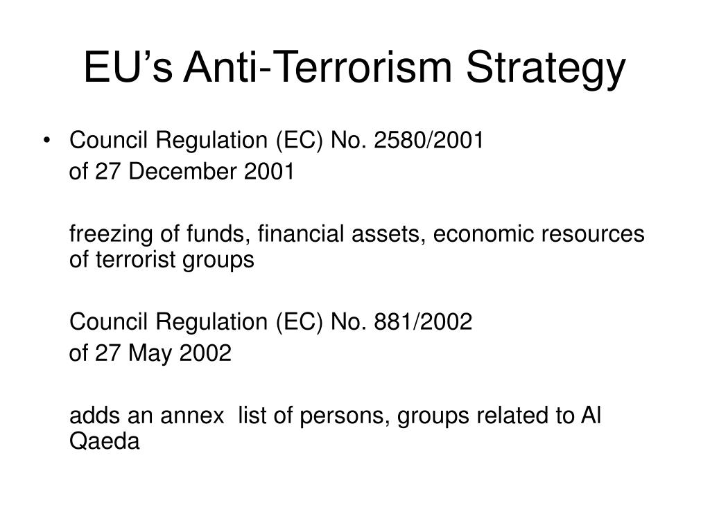 EU's Anti-Terrorism Strategy