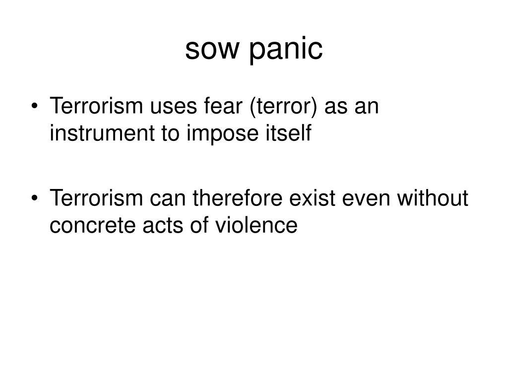 sow panic