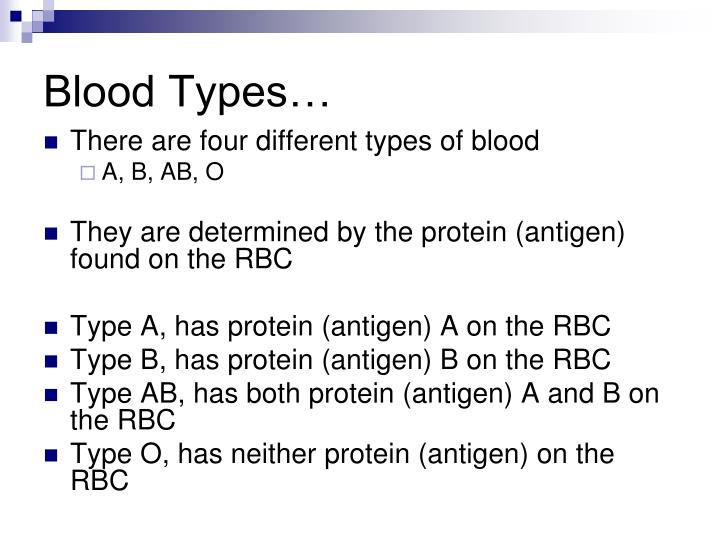 Blood Types…