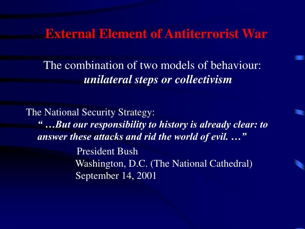 External Element of Antiterrorist War