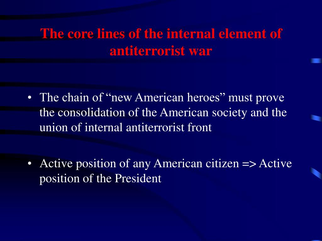 The core lines of the internal element of antiterrorist war