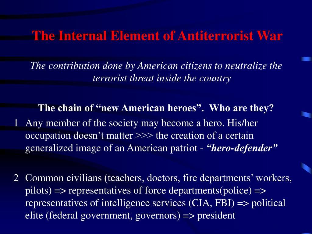 The Internal Element of Antiterrorist War