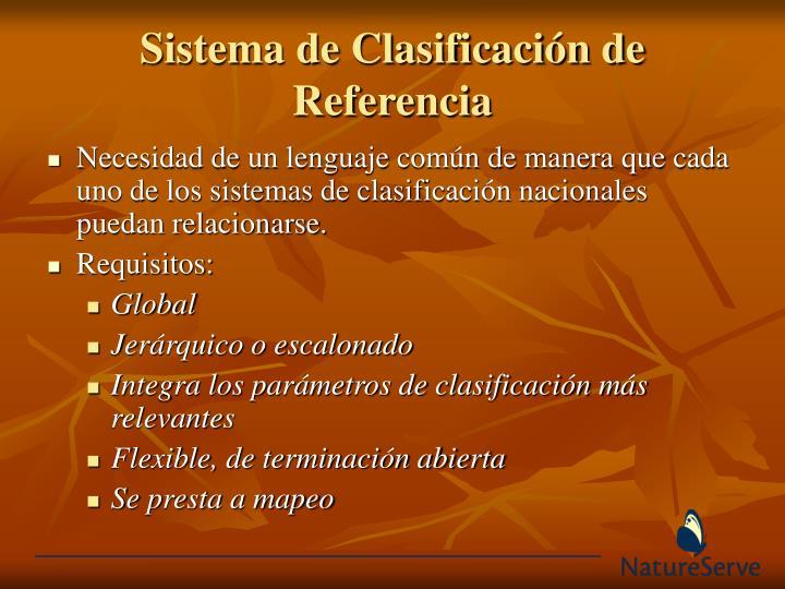 Sistema de Clasificación de Referencia