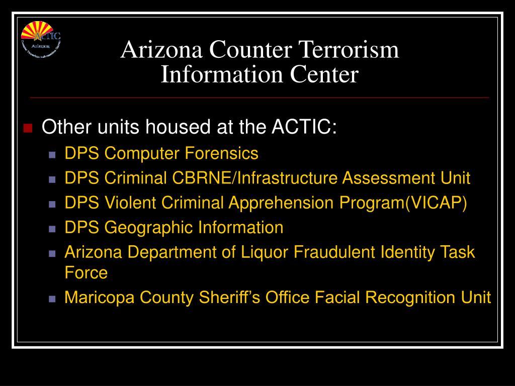 Arizona Counter Terrorism