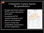 community liaison agents responsibilities