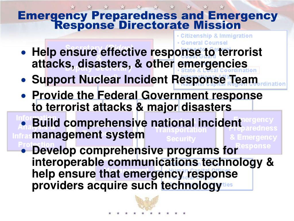 Emergency Preparedness and Emergency Response Directorate Mission