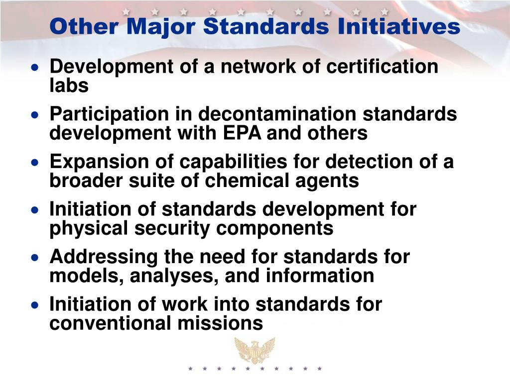 Other Major Standards Initiatives