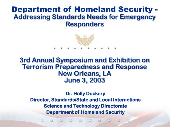 Department of Homeland Security -