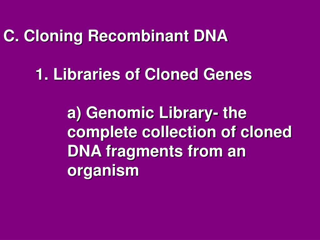 C. Cloning Recombinant DNA