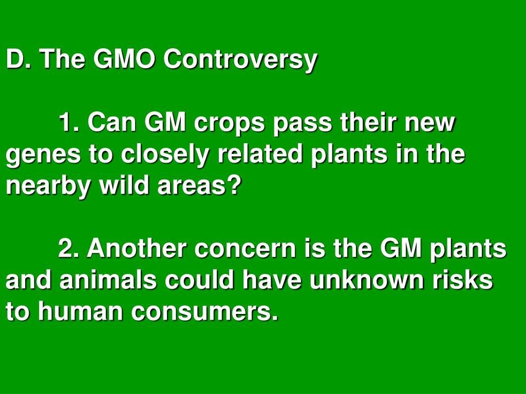 D. The GMO Controversy
