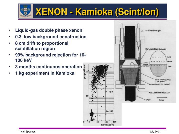 XENON - Kamioka (Scint/Ion)
